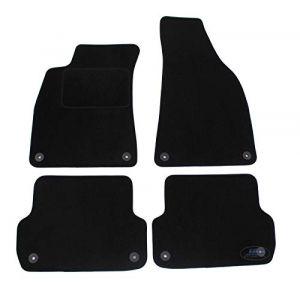 J&J AUTOMOTIVE | Tapis DE Sol Noir Velours Compatible avec Audi A4 B6 / B7 2002-2008 4 pcs (J&J AUTOMOTIVE, neuf)