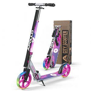 Apollo XXL Wheel Scooter 200 mm - Phantom Pro Starlight LED est Un Trotinette City Scooter de Luxe, City-Roller Pliable et réglable en Hauteur, Kick Scooter pour Adultes et Enfants (geschenk-kiosk, neuf)