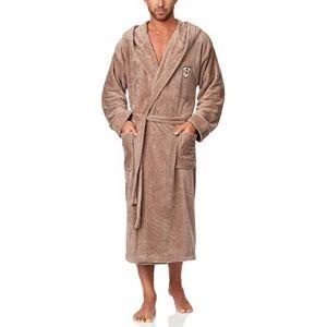 L&L Robe de Chambre à Capuche Veste d'Intérieur Homme LL0042 (Beige, XL) (Hisert, neuf)