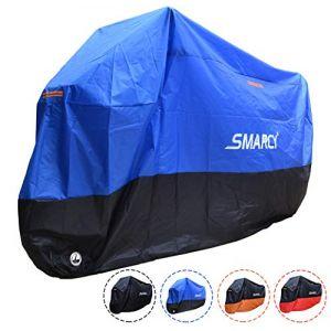 SMARCY® Housse Bâche pour Moto Scooter Taille XXXL Couleur Bleu et Noir (Smarcy EU, neuf)