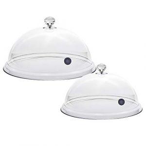D & D Cloche FUMOIR - FUMOIR DE Table - Cloches Smoking, Dome Smoking, PLEXIGLASS Cloche Transparente pour Fumer Froid, Paquet de 2, Diamètre 20cm et 25 cm (GRIP Shop, neuf)