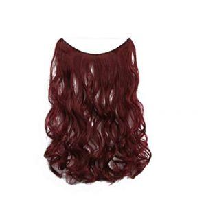 Rideau de cheveux ligne de pêche chimique de fibre perruque sans soudure pièce une seule pièce extension de cheveux, rouleau 99j (youweikeji, neuf)