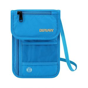 Defway, Pochette tour de cou  bleu bleu (Kun Peng, neuf)