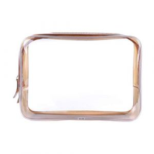 Beaupretty trousse de maquillage clair trousse de toilette transparente trousse de toilette imperméable trousse de maquillage pochette en PVC trousse à maquillage avec fermeture à glissière pour salle de sport 3pcs (brun grande taille) (Ansuen, neuf)