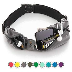 Run & Relax Ceinture de course avec étui iPhone X 6 7 8 pour coureurs (Gris - Noir) (S2P, neuf)