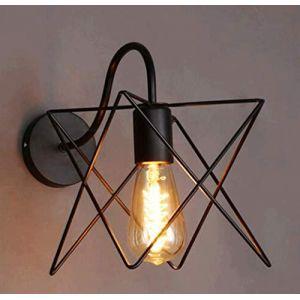 Applique Murale Intérieure Industrielle Noir Diamant Cage en Métal E27 Plafonnier Luminaire DIY pour Salon Cuisine Couloir Chambre Café Bar (DOO2U, neuf)