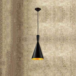 Dicai Pendentif Vintage Plafonnier Rétro Industriel Pendentif Noir Ombre En Métal Lampe Suspension for Cafe Loft Cuisine Bar Style Droplight Éclairage Lustre E27 Base (Xin Hongming, neuf)