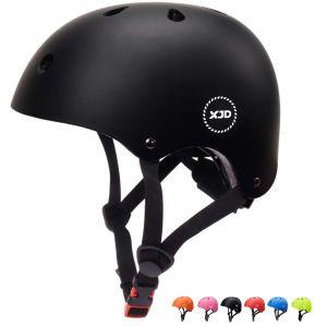 """XJD réglable Casque pour Enfant Kid Casque de vélo pour Multisport BMX Cyclisme Skateboard, XJD-KH103M, Noir, M: 55-57 cm / 21.65""""-22.44 (XJD Store, neuf)"""