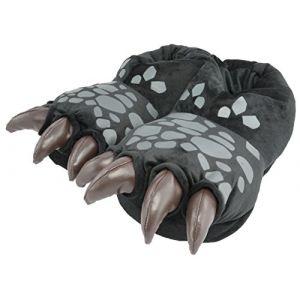 Dragons DreamWorks Chaussons 3D en forme de pattes de dragon - Noir - Noir , 32/34 EU (ak trade, neuf)