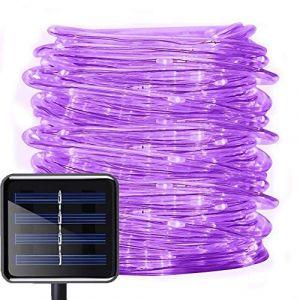 39ft Solaire Ruban Lumineux ,DINOWIN 100 LED Guirlande lumineuse de Corde Imperméable Extérieur Tube Rope Guirlande Lumineuse pour Noël Jardin cour Chemin Clôture Arbre Backyard (violet) (DinowinDirect, neuf)