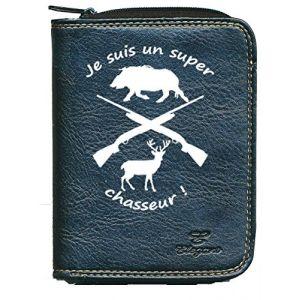 Porte monnaie porte carte noir Super chasseur (sylla city, neuf)