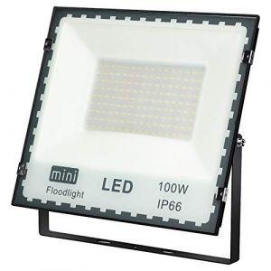 100W Projecteur LED Anti-éblouissant IP66 Spot LED Extérieur 6500K 8400lm Projecteur LED Extérieur étanche Lumière du Jour Blanc 500W Equivalent halogène, lumières de sécurité, Lumières d'inondation (Priv Europe, neuf)