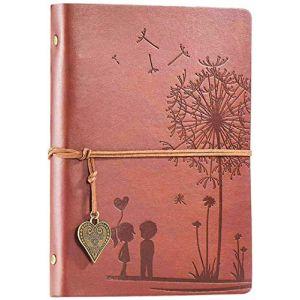 Carnet De Voyage A5, Carnet de Notes Voyage Diary Notebook Croquis Dessin Rechargeable Journal Cuir Vintage Cahier Bloc-Notes de Journal Vierge?Marron? (Aomiduo-EU, neuf)