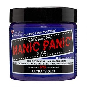 Manic Panic High Voltage Classic Coloration Cheveux Semi Permanente Vibrante 118ml (Ultra Violet) (Hunt Or Dye Beauty, neuf)