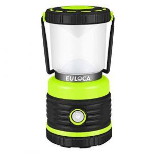 EULOCA Lanterne Camping LED, Lampe Camping Puissante 1200lm Luminosité Réglable, Eclairage Camping Etanche, pour Camping, Bivouac, Pêche, Randonnée, Cave, etc (EULOCA-EU, neuf)