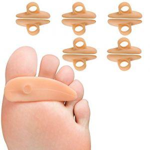 Welnove Tube d'orteil Broken Toe Protège les capuchons d'orteils (1 Loops orteil marteau peis*10) (SMFCARE Health, neuf)