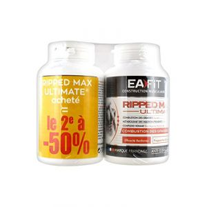 Eafit Construction Musculaire Ripped Max Ultimate Combustion des Graisses Lot de 2 x 120 Comprimés (Cocooncenter, neuf)
