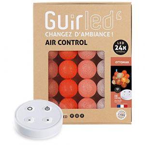 Guirlande lumineuse boules coton LED USB - Télécommande sans fil - Chargeur double USB 2A inclus - 4 intensités - 24 boules - Ottoman (Lighting Arena, neuf)
