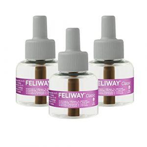 Ceva Feliway Classic Pack de 3 Recharges Décontractant pour Chat 48 ml (Tierglück24, neuf)