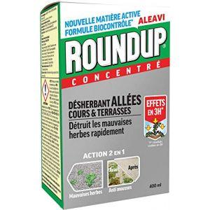 Roundup Désherbant Allées Cours et Terrasses Concentré, 400ml (Maisange, neuf)
