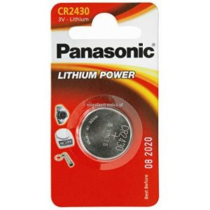 Panasonic CR2430 Lot de 2 piles 3V au lithium (P & F France, neuf)
