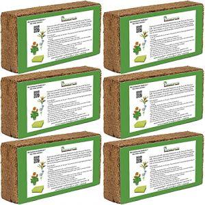 Humusziegel terreau d'empotage pressé à partir de fibre de coco 6x650 g - 50l (Grosshandel & Direktimport, neuf)