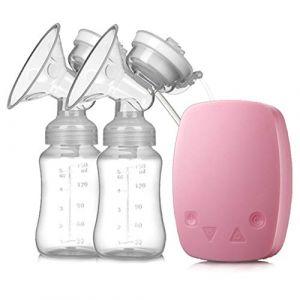 Améliorer Tire-lait électrique Double, Silencieux Pompe d'allaitement Double Sans BPA,Pink (SMS ShangHang, neuf)
