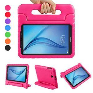 LEADSTAR Samsung Galaxy Tab E 9.6 EVA Etui Poignée Stand Étui Enfants Housse Antichoc Protecteur Kids Coque Anti-Chocs pour Samsung Galaxy Tab E 9.6-Pouces SM-T560 / T561 (Rose) (Ling EU, neuf)