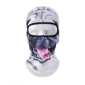 Vertast Cagoule Masque visage, 2017Nouveau Design 3d Animal Active Masque complet pour le ski de cyclisme casque de moto Liner randonnée Camping Cache-cou, Mauvais chien (VERTAST, neuf)