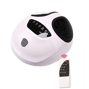 Appareil Massage Pied, Massage Electrique Masseur Shiatsu Chauffant Massage Shiatsu Pétrissage Profond & Pression d'air, Relaxer Maison & Bureau,White (Efficient work movement, neuf)