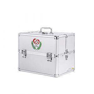 Boîte à médicaments Boîte à médicaments Boîte de rangement en plastique (GQP Boutiques, neuf)