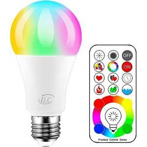 Ampoule Couleur LED E27 Telecommande 120 couleurs changeante RGB 10Watt Edison Screw (RisingTech, neuf)