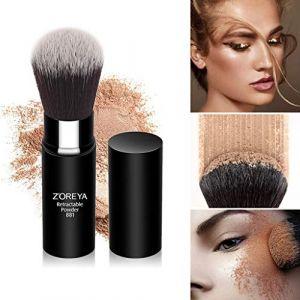 Nourich Pinceau Maquillage Fondation, Ombre Brillante Pinceau Maquillage Fondation, Rayon Noir Soft Adjust à Whitehead Poudre Brushless Maquillage, Pinceau Beauté (Black) (Nourich, neuf)