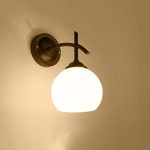 Dicai Retro Applique Murale Intérieur Luminaires Muraux Applique Classique Applique Chambre Lampe De Chevet Couvercle Abat-Jour En Verre Couverture E27 Edison 1-Lights Villa Chambre Salon Jardin (Xin Hongming, neuf)