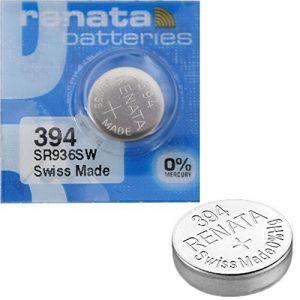 2x Batterie Montre Renata poignet-Fabriqué en Suisse-Sans Piles oxyde d'argent 0% Mercure Renata Pile bouton 1,55V piles longue durée (P & F France, neuf)