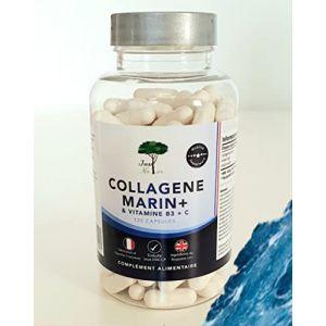 Just'Natur-Collagène Marin-Nouvelle Formule-Vitamine-B3 & C-Pour les Articulations-la Peau-Cheveux-Ongles-Ingrédients Naturels-Qualité Supérieure-120 gélules pour 4 mois d'approvisionnement (Just'Natur, neuf)