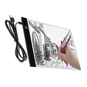 Satisfr Tablette Lumineuse, A4 Super Mince USB LED Art Plaque de luminosité Dessin Copie Pad Dessin Tablette (3 niveaux de luminosité) (Majome, neuf)