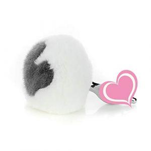 Lapin Fourrure Queue Plug Métal Queue Plug Cosplay Jeu S ~ ê ~ x Jouets Blanc en forme de coeur en peluche pour les débutants ?S? (tyufgt6u, neuf)
