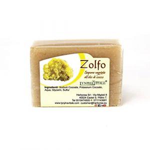 Savon au Soufre - Savon artisanal, naturel, travaillé à froid - Savon idéal pour les peaux grasses - 100 gr (Lynpha Vitale di Herborea Srl, neuf)