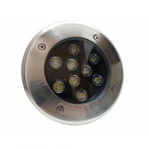 Spot LED Encastrable Extérieur IP65 220V Sol 9W 60° - Blanc Chaud 2300K - 3500K (SILAMP FR, neuf)