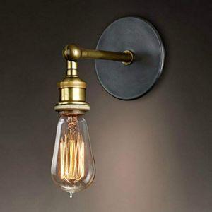 Mengjay Rétro Luminaire Applique Murale Style Industriel Réglable Finition de Laiton Éclairage Vintage Edison Lampe Douille E27 pour pour Décoration de Maison, Bar, Restaurants, Café (Mengjay, neuf)