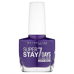 887 All Day Plum - Vernis à Ongles Strong & Pro/SuperStay Gemey Maybelline (Caroline Loveliness, neuf)
