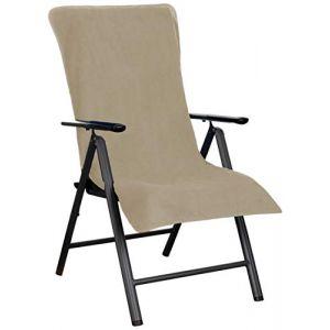 Brandsseller Housse de Protection en Tissu éponge pour Chaise de Jardin et Chaise Longue de Jardin et Chaise Longue de Plage 100% Coton Taupe-Grau (brandsseller, neuf)