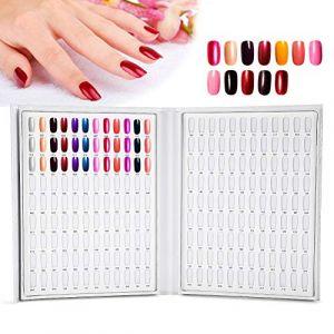 Palette d'Ongles Carte d'Affichage 216 couleurs Présentoir de Vernis à Ongles Nail Art Accessoire de Manucure (Blanc) (salmueu, neuf)