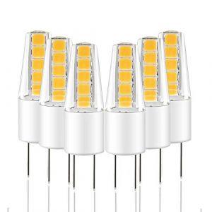 Ampoule LED G4, LAKES 6x G4 12V AC DC COB Blanc Chaud 3000K 2W Equivalent à Halogène 25W Angle de faisceau de 360° (Lightone Direct-Euro, neuf)