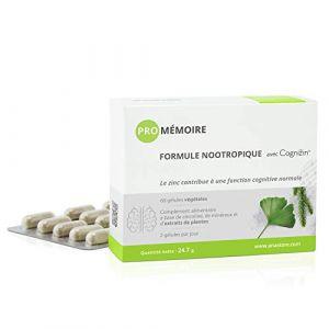 PRO MÉMOIRE * 337 mg / 60 gélules * Cerveau (mémoire) * Garantie Satisfait ou Rembours * Fabriqué en France (ANASTORE BIO, neuf)
