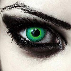 """Designlenses, deux lentilles de couleur vert sans correction pour halloween elfe costume + Récipient gratuit - costume d'Halloween ou carnaval """"Green Elfe"""" (Designlenses, neuf)"""