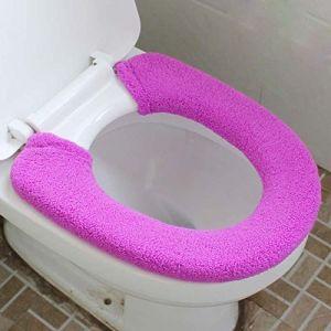 MZP De plus des toilettes de velours épais fixe type commun pot argent pièce fixe le tapis de pot siège de toilette 2 équipée , deep purple (ZhongPing Miao, neuf)