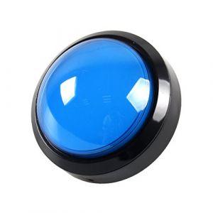 EG STARTS 4 Pouces 100mm Big dôme 12V LED Lumineux des Boutons poussoirs avec Micro pour Arcade Machine Jeux vidéo Pièces (Bleu) (EG STARTS-EU, neuf)