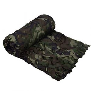 LOOGU - Filet de camouflage pour ombrage de jardin - filet d'ombrage pour la chasse militaire, tir, pêche, cachette, camping, décoration de fête de Noël, US Woodland 4 couleurs., 6.5x26.6ft(2x8m) (KSS Sports, neuf)